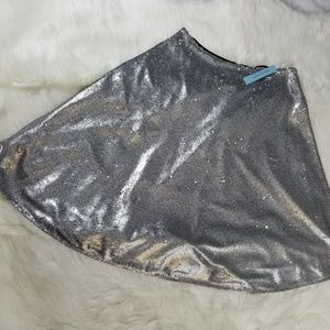 Antonio Melani Sz 10 Silver Sequin A line Skirt